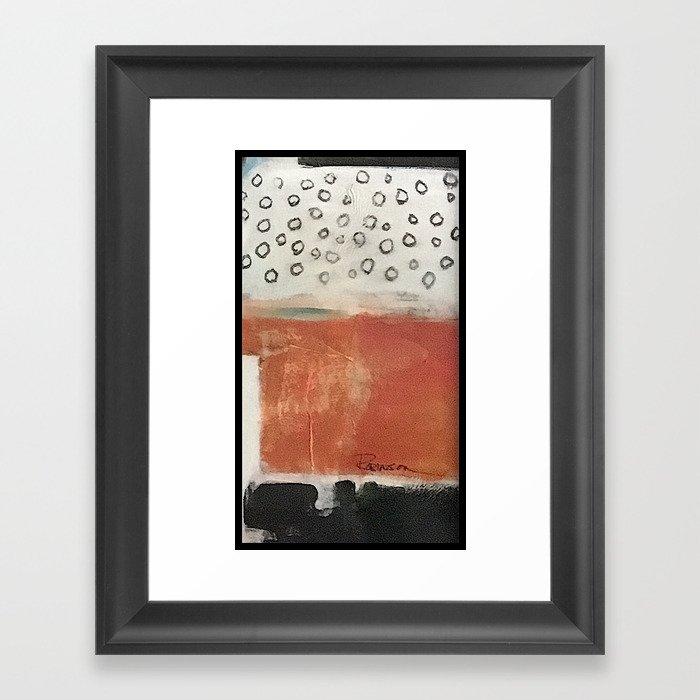 layered meditation Framed Art Print