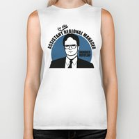 dwight schrute Biker Tanks featuring Dwight Schrute logo v2 by Buby87
