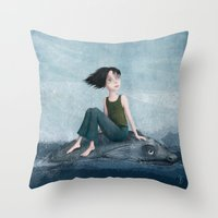journey Throw Pillows featuring Journey by Sona