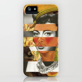 Frida Kahlo's Self Portrait with Parrot & Joan Crawford iPhone Case