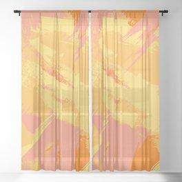 Retro Sunshine Sheer Curtain