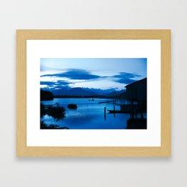 BLUE VIETNAMESE MEDITATION Framed Art Print