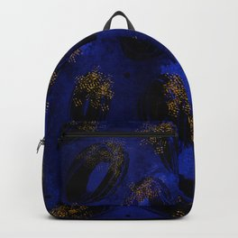 Electric blue abstract ovals Backpack