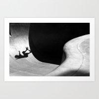 pivot Art Prints featuring Kalle Berglind / Frontside Pivot / Malmö by Ricardo Muñoz Carter