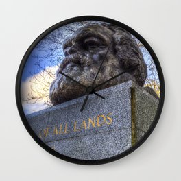 Karl Marx Memorial Wall Clock