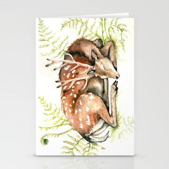 Sleeping Deer Stationery Cards