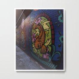 Glebe Koi Fish Metal Print