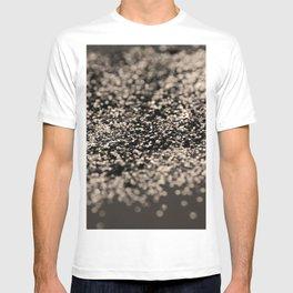 Sparkling Sepia Gray Black Glitter #1 #shiny #decor #art #society6 T-shirt