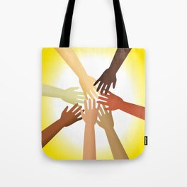 Diverse Hands Tote Bag