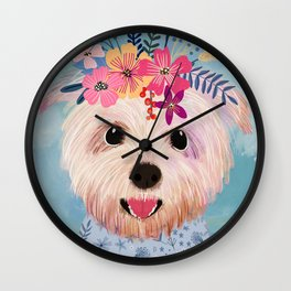 Floral Yorkshire Wall Clock