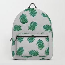 Turquoise leaves nature pattern Backpack