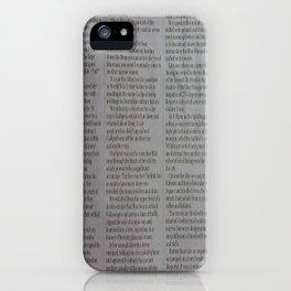 Newpaper iPhone Case