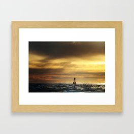 Lonely Buoy Framed Art Print