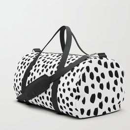 Hand drawn drops and dots on white - Mix & Match with Simplicty of life Duffle Bag