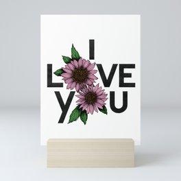 I Love You in colors Mini Art Print