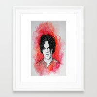 jack white Framed Art Prints featuring Jack White by Sosha Krosley