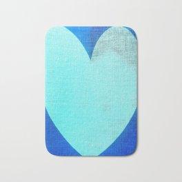 Blue Heart Bath Mat