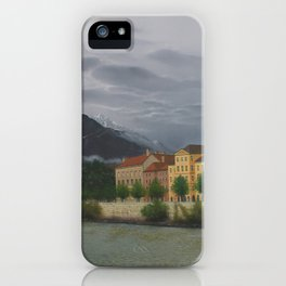 Innsbruck from River Inn Bridge iPhone Case