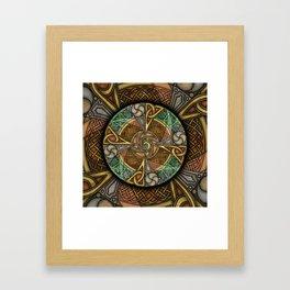 Celic Apeatue Mandala Framed Art Print