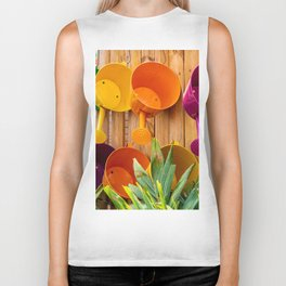 Colorful Watering Cans Biker Tank