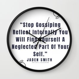 38   |  Jaden Smith Quotes | 190904 Wall Clock