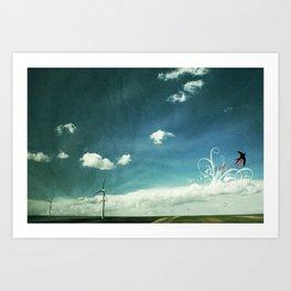 skyred Art Print