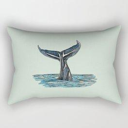 Humpback Tail Rectangular Pillow
