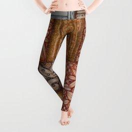 Patchwork Tiles Grains and Metal Leggings