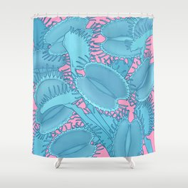 Free hugs (Venus Flytrap on pink) Shower Curtain