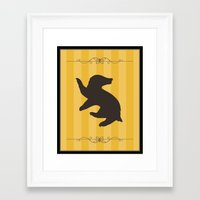 hufflepuff Framed Art Prints featuring Hufflepuff by Winter Graphics