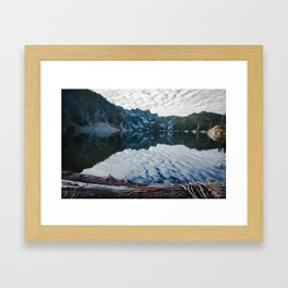 Snow Lake Framed Art Print