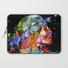 Native American Woman Grunge Laptop Sleeve