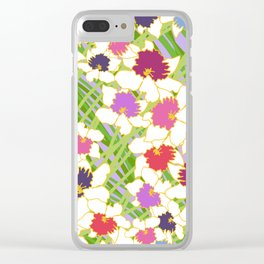 White Daffodil Rain Clear iPhone Case