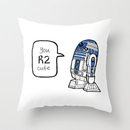 R2CUTIE Throw Pillow