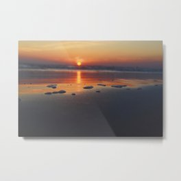 Sandy Sunset- #landscape #beach #photography Metal Print