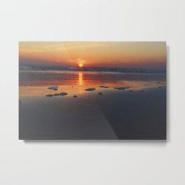 Sandy Sunset- #landscape #beach #photography Metal Print