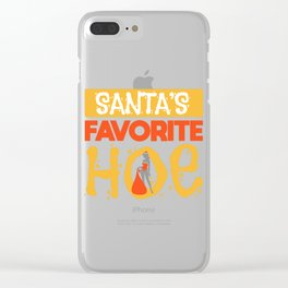 Sexy Christmas Santa Claus Slut Gift Clear iPhone Case