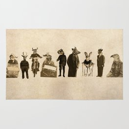 Suited Animal People - The Line up  Rug