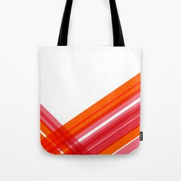 Tangerine Abstract Tote Bag
