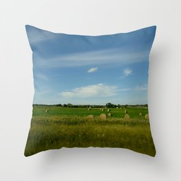 Summertime in WaterValley Throw Pillow