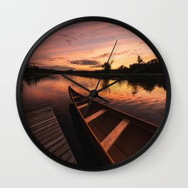 Mersey River Glow Wall Clock