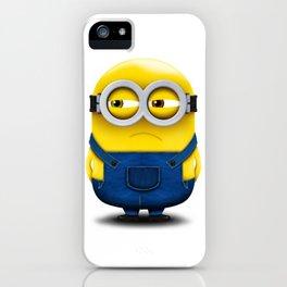 Minion BOB (Angry) iPhone Case