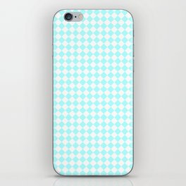 Small Diamonds - White and Celeste Cyan iPhone Skin