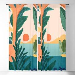 Tropical Evening Blackout Curtain