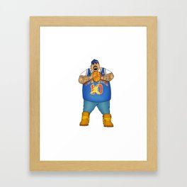 Custom Big Puninsher knicks Framed Art Print