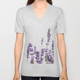 Purple Lavender #4 #decor #art #society6 Unisex V-Neck