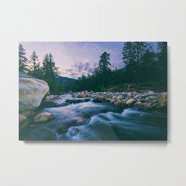 Long Exposure River (Color) Metal Print
