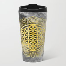 Flower Of Life (Batik 10) Metal Travel Mug