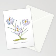 Spring Crocus Stationery Cards