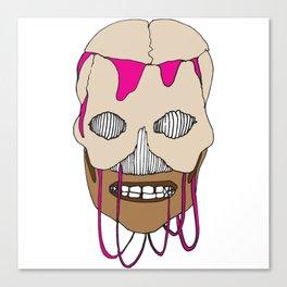 Skull Head Street Art Design Canvas Print